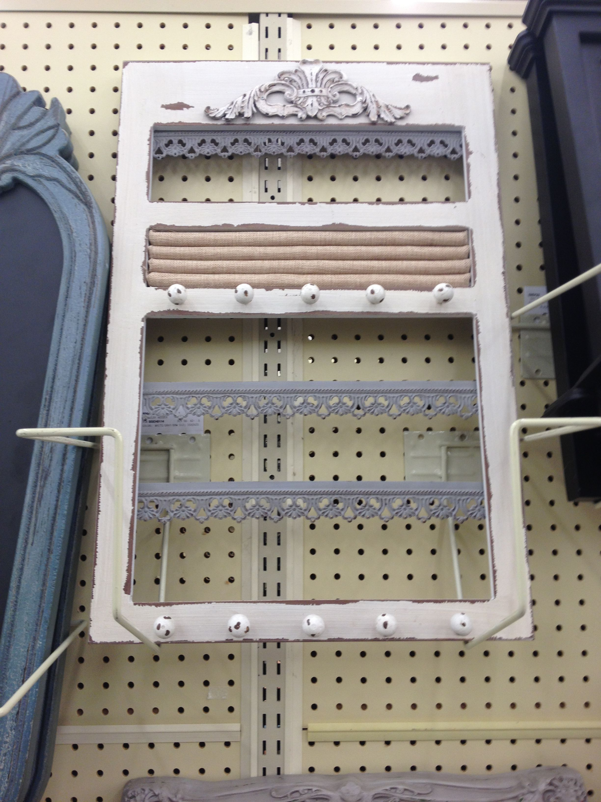 Jewlery holder 50 hobby lobby distressed look sewing for Hobby lobby jewelry holder