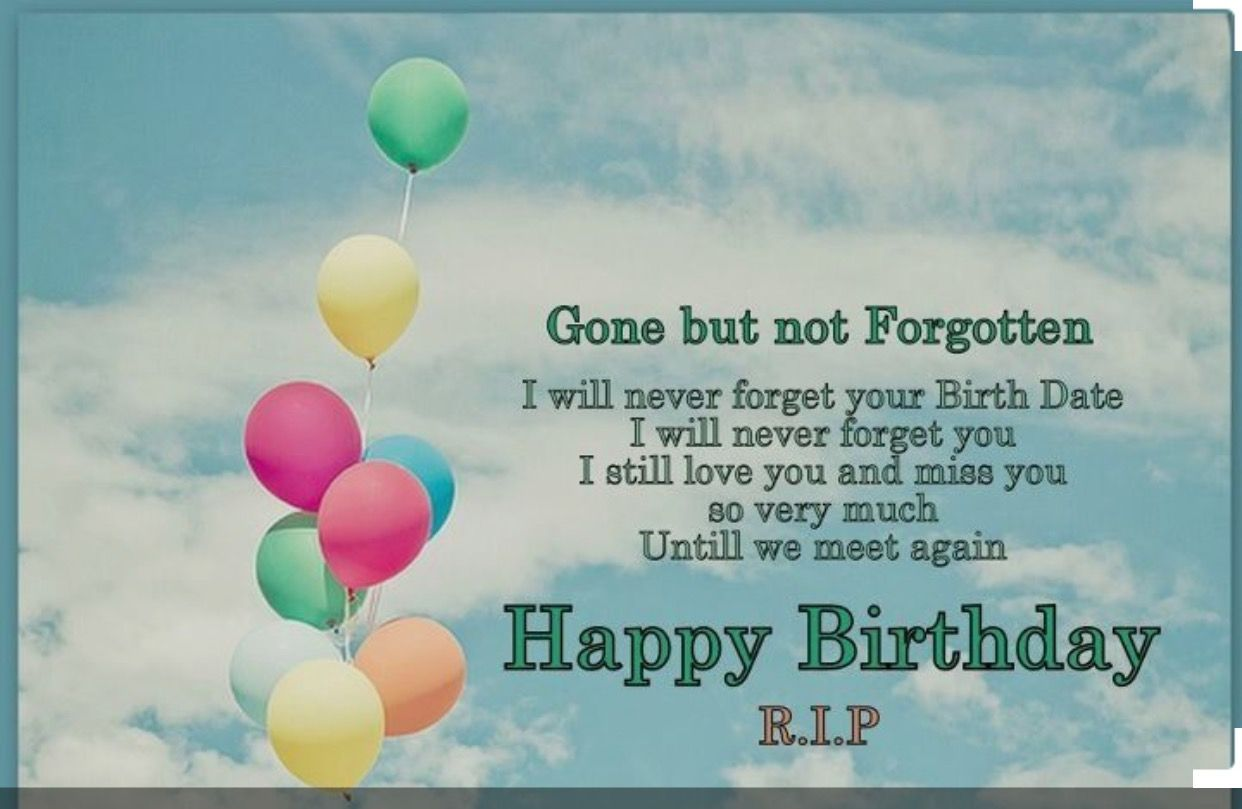 Birthday In Heaven Quotes Happy Poems Messages