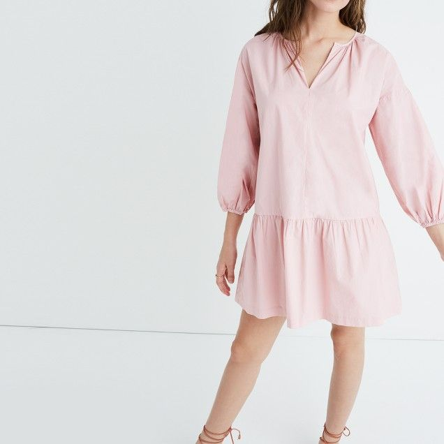 9a23d71dbe7 Long-Sleeve Tunic Dress Long Sleeve Tunic Dress, Madewell Dresses, Cotton  Dresses,