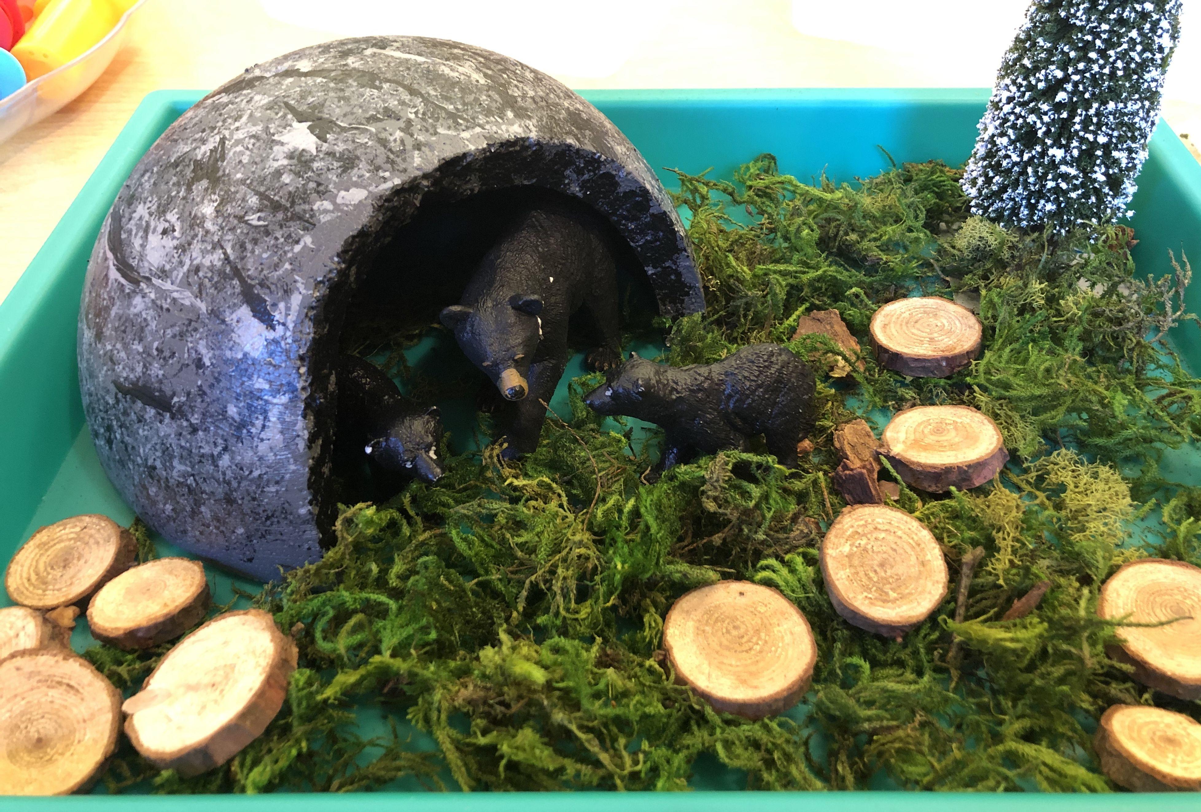 Preschool Hibernation Play Set Cave Is A Styrofoam Circle