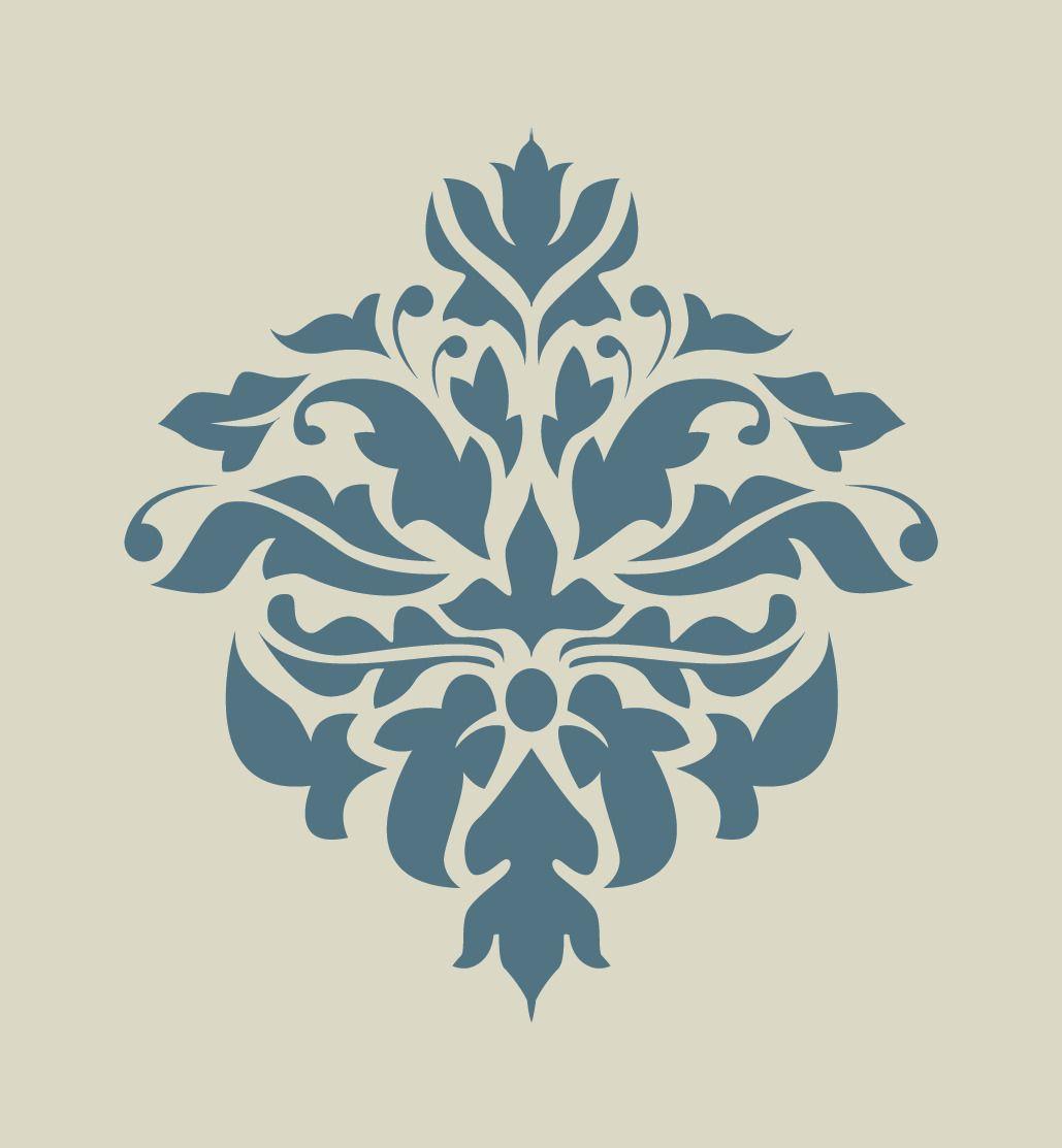 Pochoir Meuble Bois tout damas. damassé. dentelle. motif floral. pochoir en vinyle adhésif