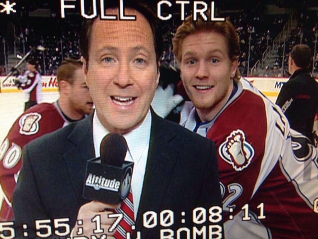 Gabe's photo bomb! Colorado avalanche hockey, Hockey