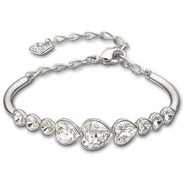 Swarovski Nouba Bangle, L ($89) ❤ liked on Polyvore featuring jewelry, bracelets, accessories, pulseras, swarovski, heart bangle, hinged bangle, hinged bracelet, holiday jewelry and special occasion jewelry