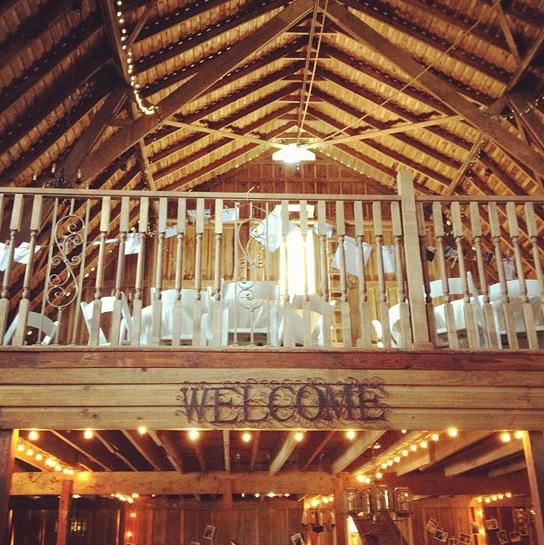 Oklahoma wedding. Rosebrook Vineyard reception barn