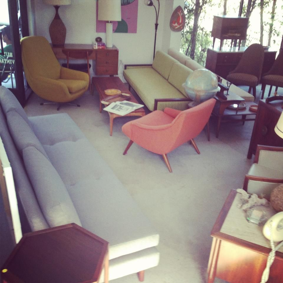 Mid-Century Modern Furniture Display at Our Old Location in San ...
