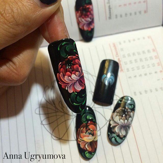 Pin de Franchu en uñitas   Pinterest   Arte de uñas, Mano alzada y ...