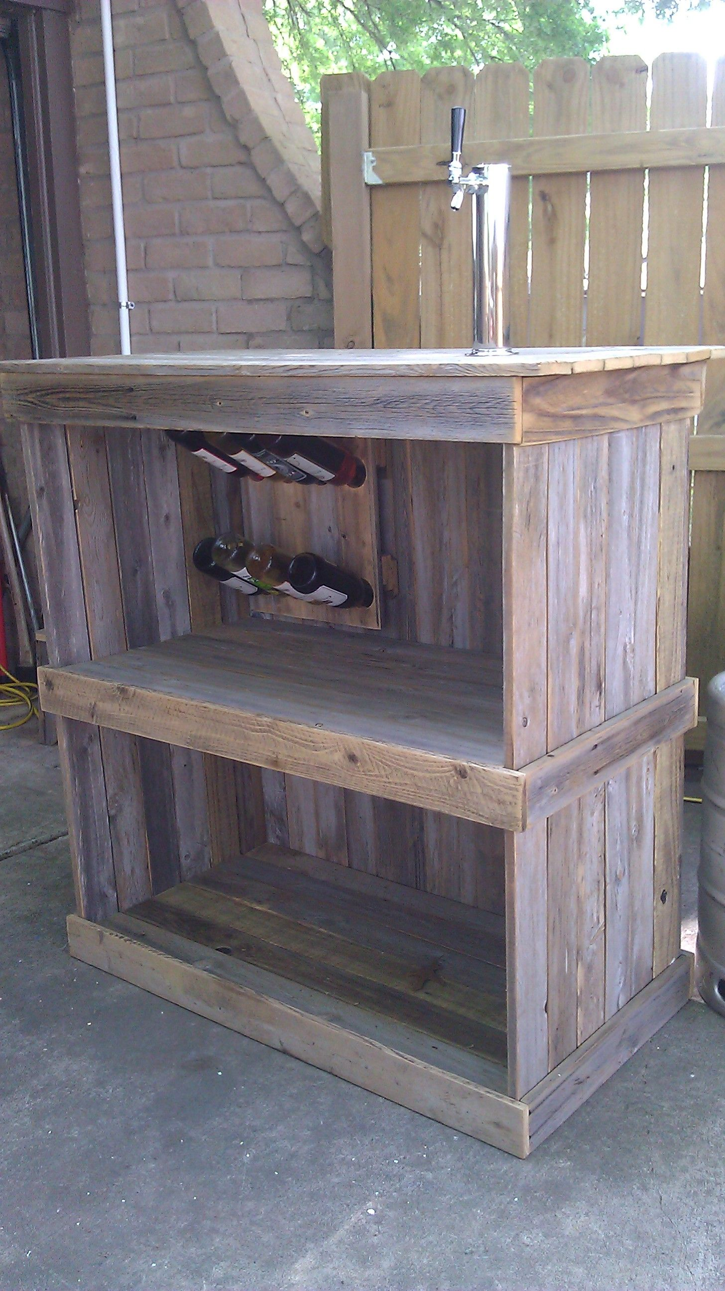 Fence board bar recycled fence boards pinterest for Recycled wood board
