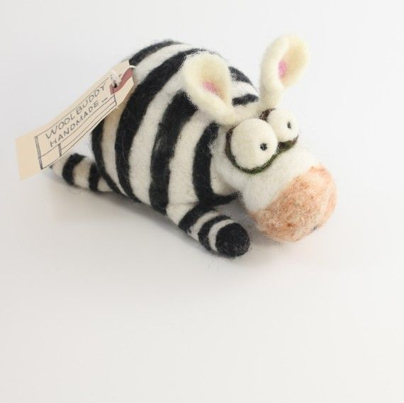 needle felt zebra