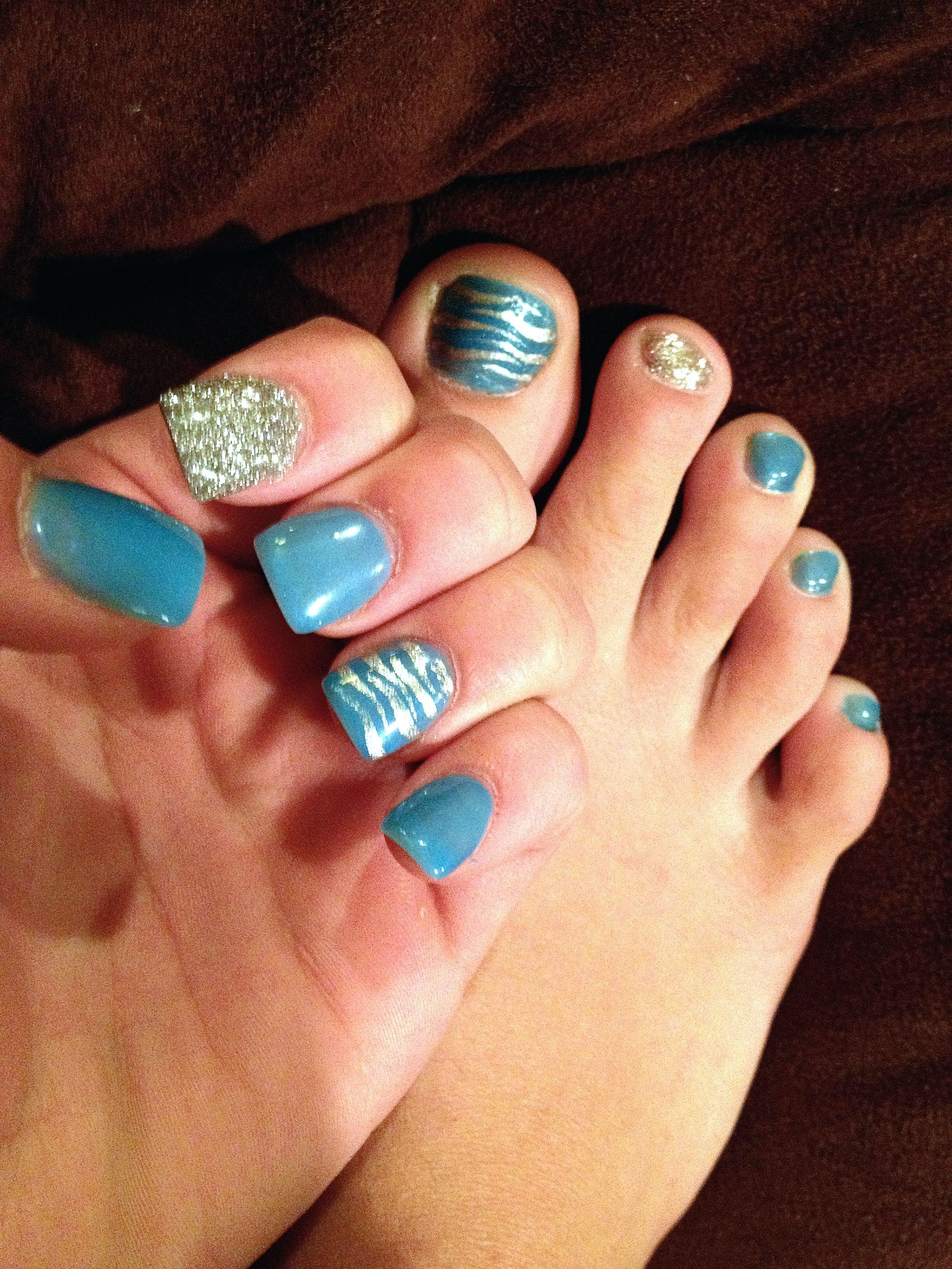 Matching Acrylic nails & toe\'s | Nails and makeup | Pinterest | Mani ...