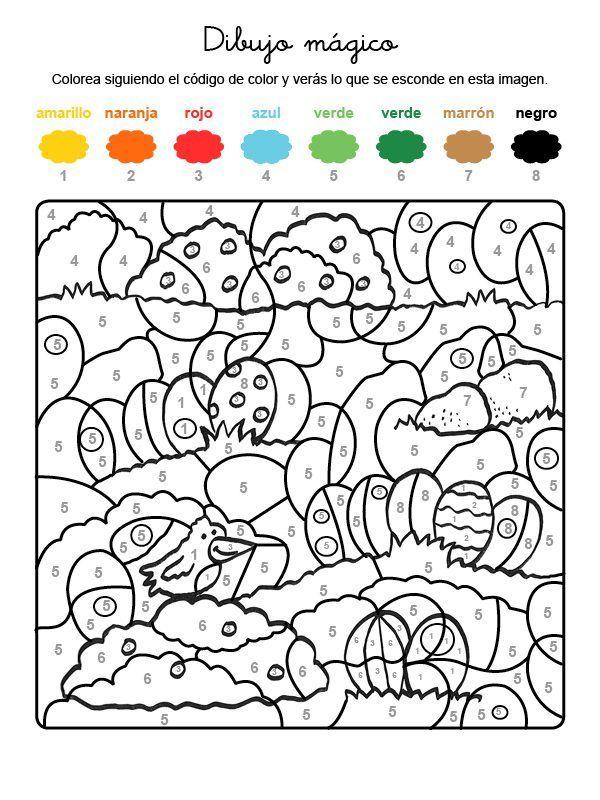 Dibujo Mágico De Huevos De Pascua Dibujo Para Colorear E