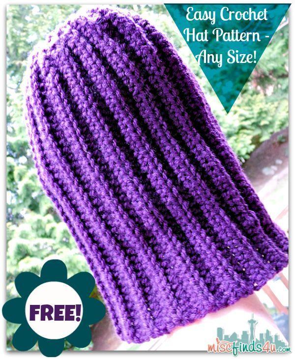 How To Crochet Video Free Hat Pattern For Scrap Yarn Half Double