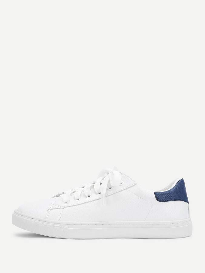 ac6ef84171 Shein Lace Up Round Toe Sneakers in 2019 | Products | Shoes sneakers ...
