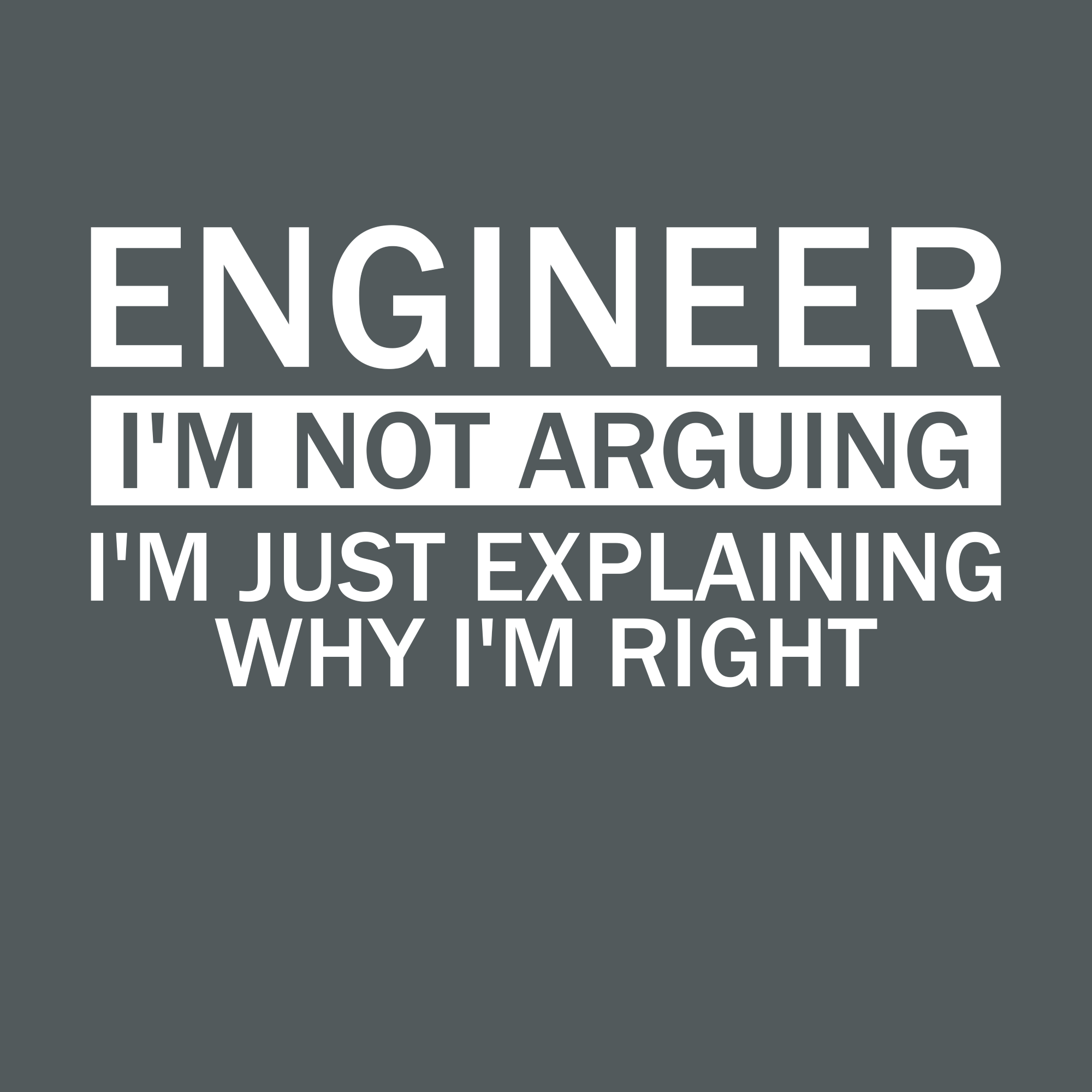 Engineer I M Not Arguing I M Just Explaining Why I M Right Engineering Humor Engineering Quotes Electrical Engineering Humor