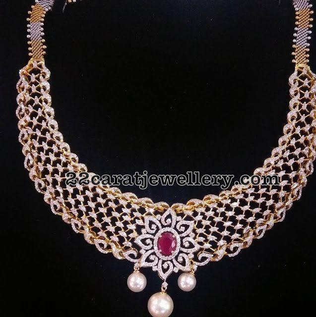 Top 10 Designs By Bhavani Jewellers Indian Wedding Jewelry Diamond Necklace Set Diamond Girl