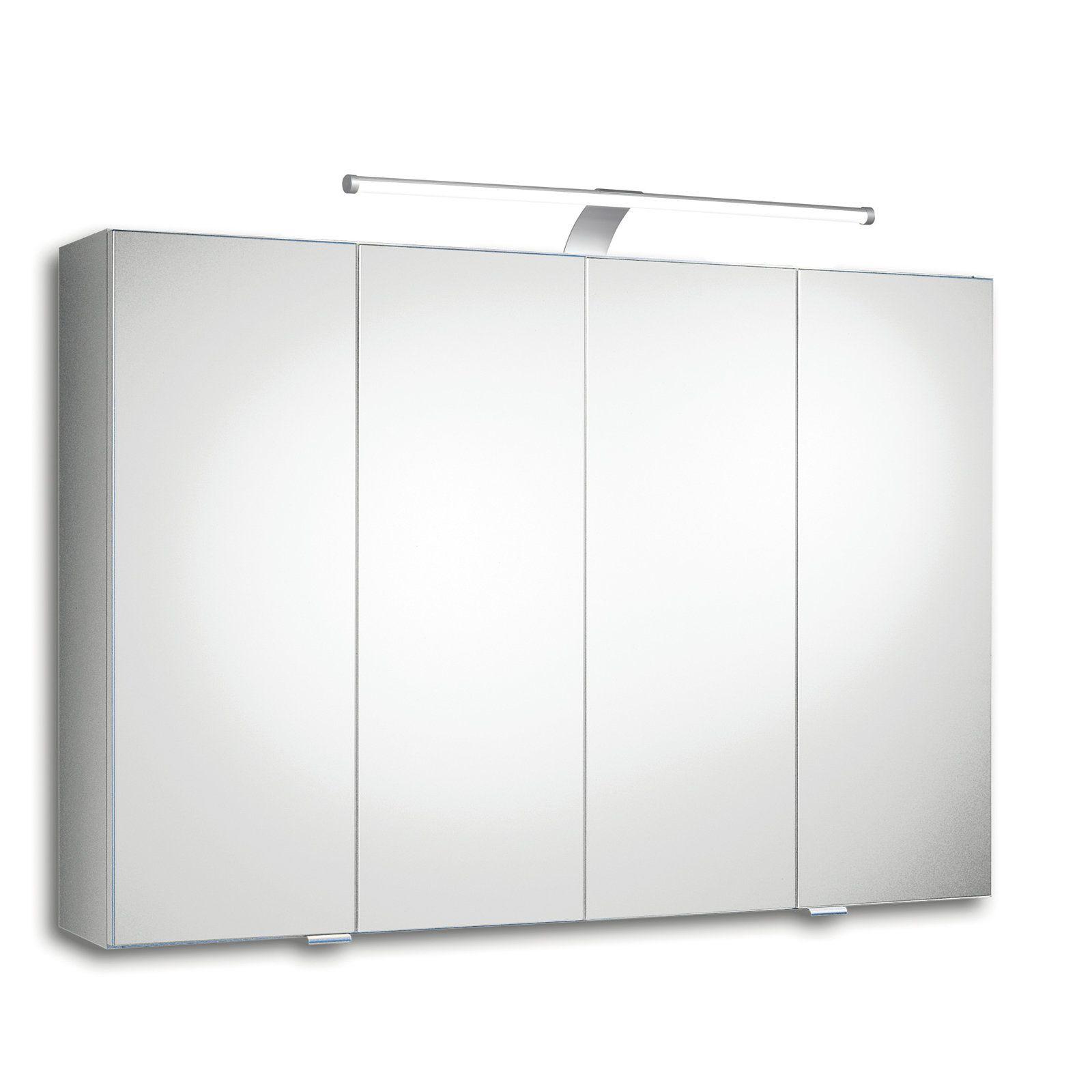 Spiegelschrank TRENTO III - weiß - LED Jetzt bestellen unter: https ...