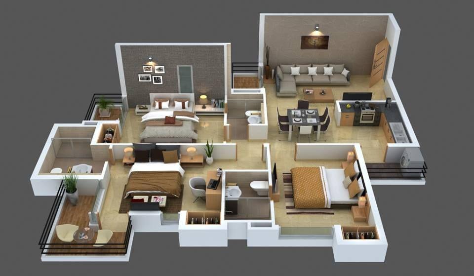 Top 8 3d Cozy Home Plans Cozy House House Plans My House Plans