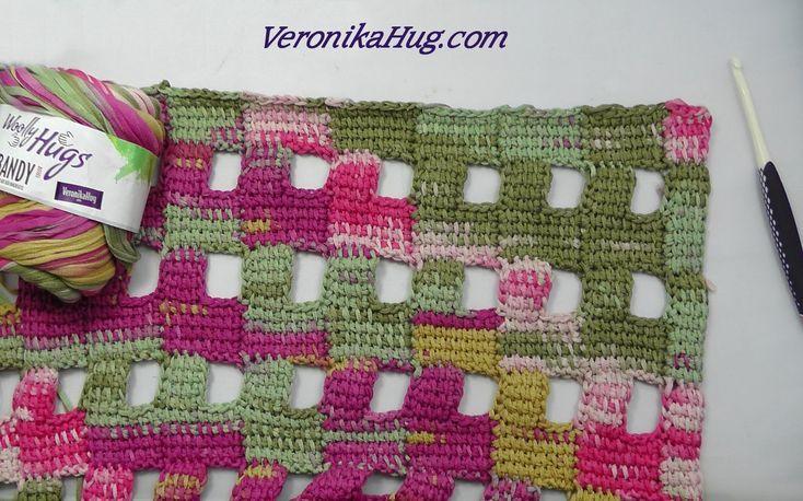 Tunesisch Hakeln Tuch Rapallo Abschlusskante Oben Woolly