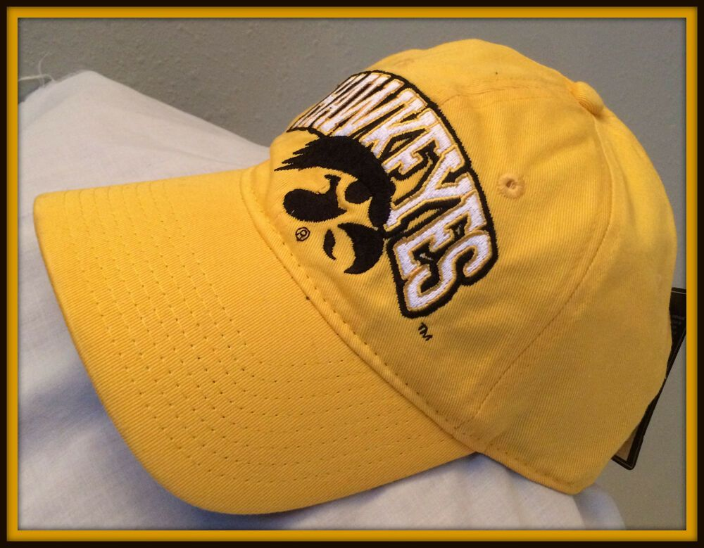 speical offer wholesale online best authentic IOWA HAWKEYES SIGNATURES EMBROIDERED ADULT STRAPBACK CAP NEW WITH ...