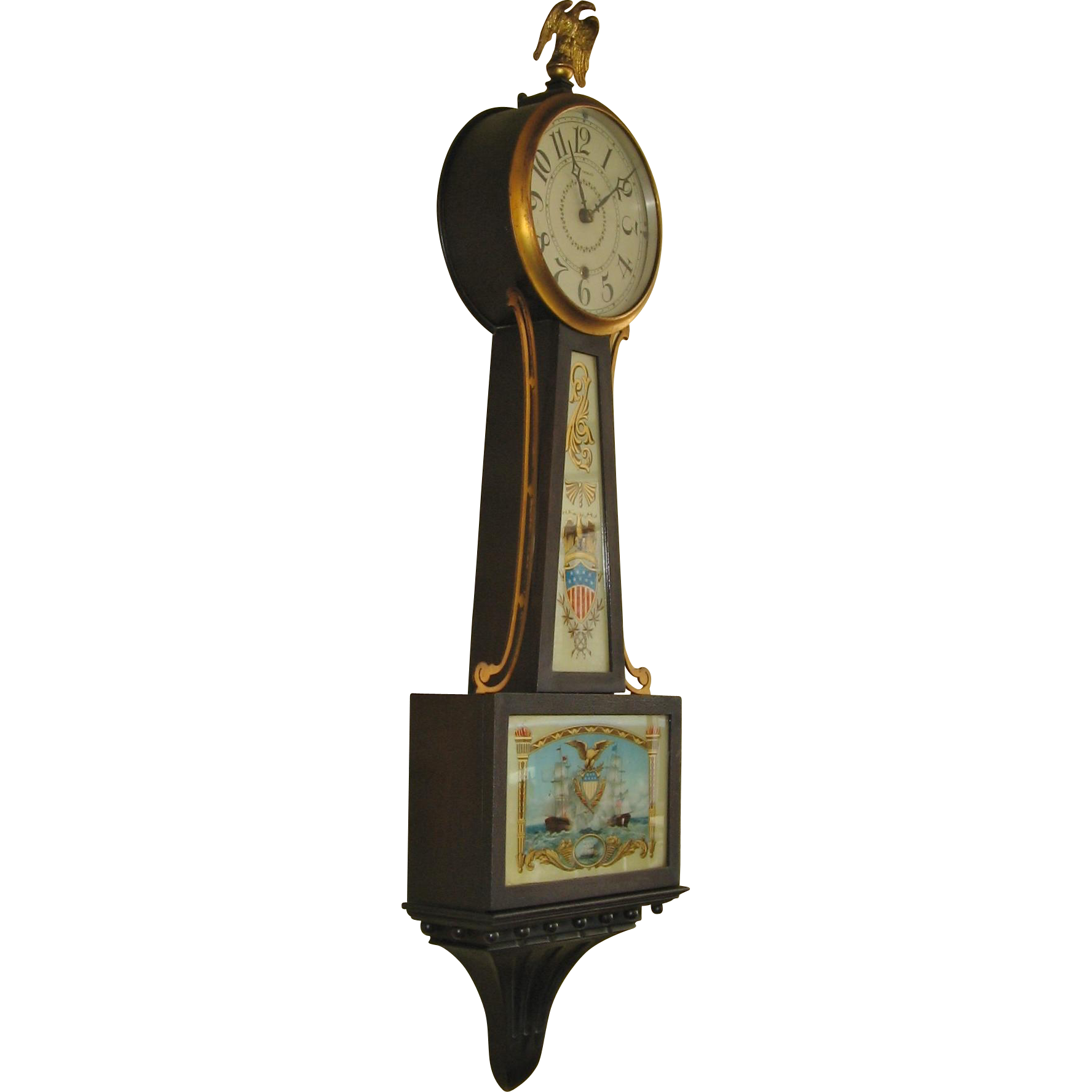 Seth Thomas Banjo Clock 1 Www Rubylane Com Vintagebeginshere Vintage Clock Clock Antique Wall Clock