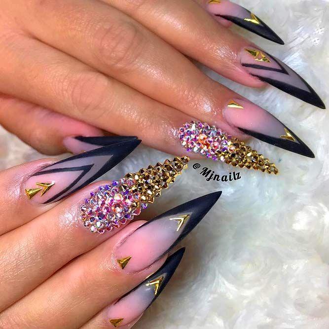 Classy French Matte Pointed Nails @nailsart #stilettonails #frenchnails  ❤️Fantabulous Pointy Nails Designs - Fantabulous Pointy Nails Designs You Would Love To Have Stiletto