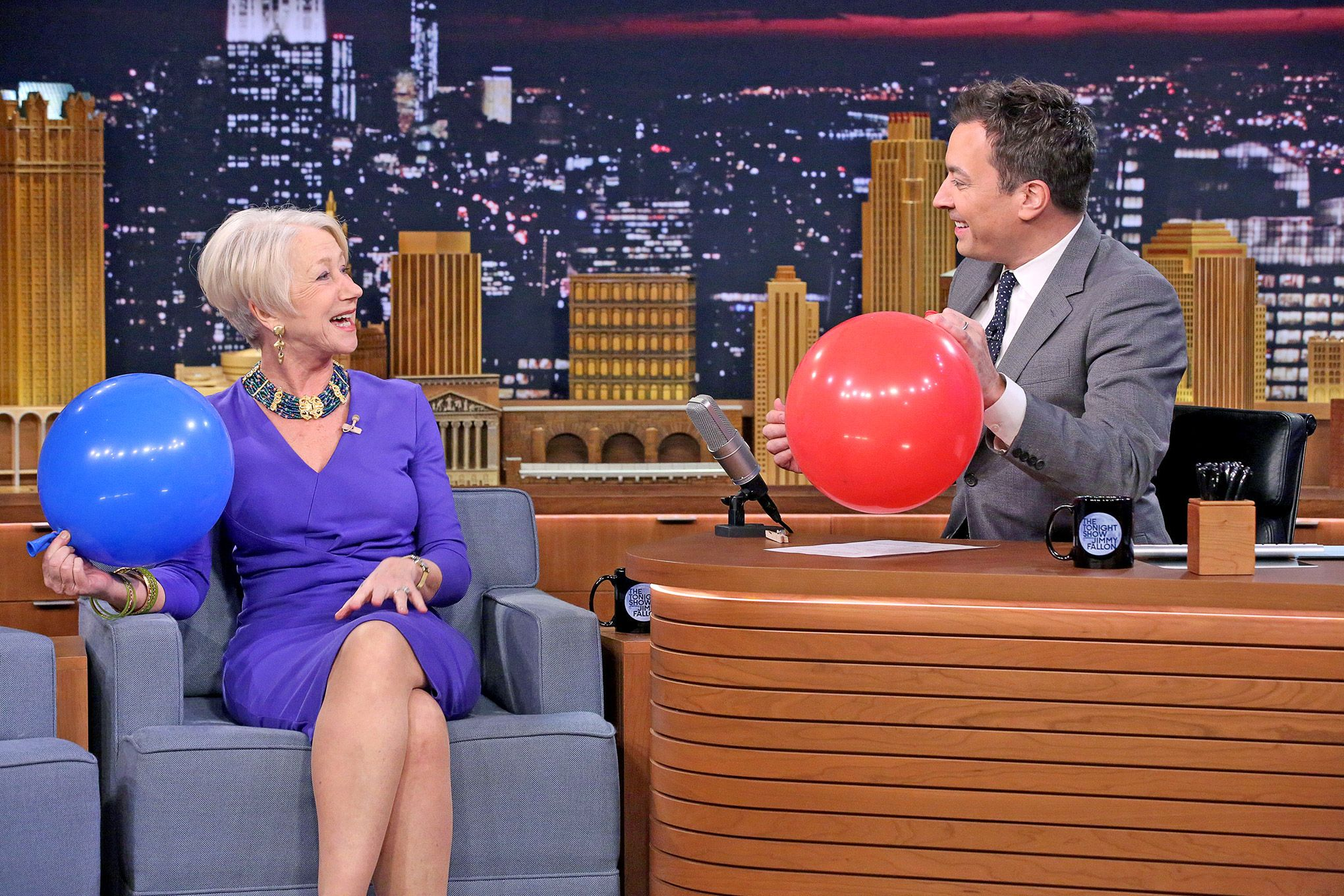 #HelenMirren Answers Interview Questions After Sucking In Helium On #TheTonightShow [Watch]