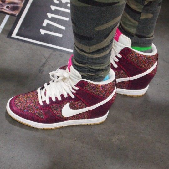 Best Drop Shipping Nike Dunk SKY HI LIB NRG Womens Elevator shoes Rosy red white[52