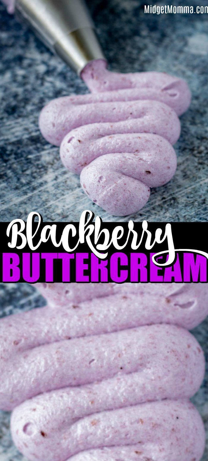 Blackberry Buttercream Frosting. This bakery style buttercream frosting is made with fresh blackberries and gives you the perfect light and fluffy buttercream frosting. Buttercream Frosting. This bakery style buttercream frosting is made with fresh blackberries and gives you the perfect light and fluffy buttercream frosting.