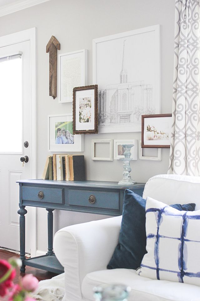 Good Layered Gallery Wall With Frame Risers And A Custom Frame Hack Nice Ideas