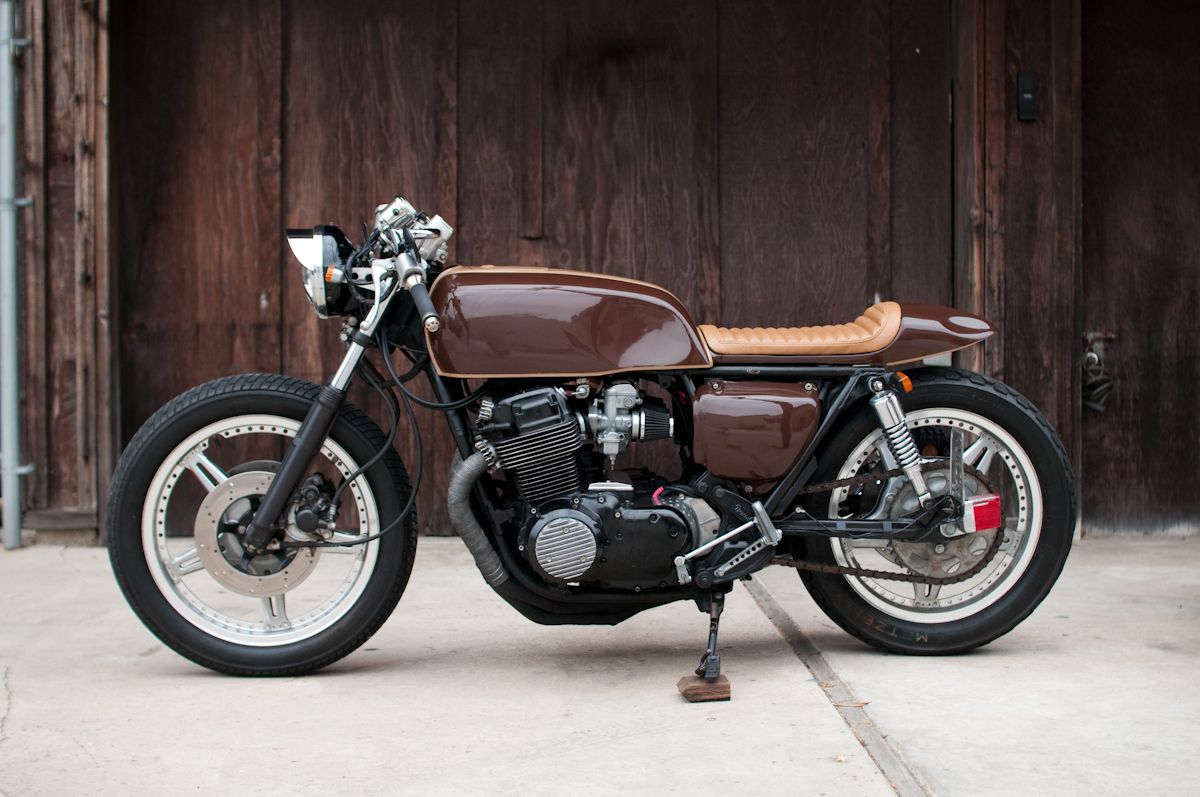 Cling On For Dear Life 70 S Brown Cb750 Cafe Racer Cb750 Cafe Racer Cafe Racer Honda Cb750