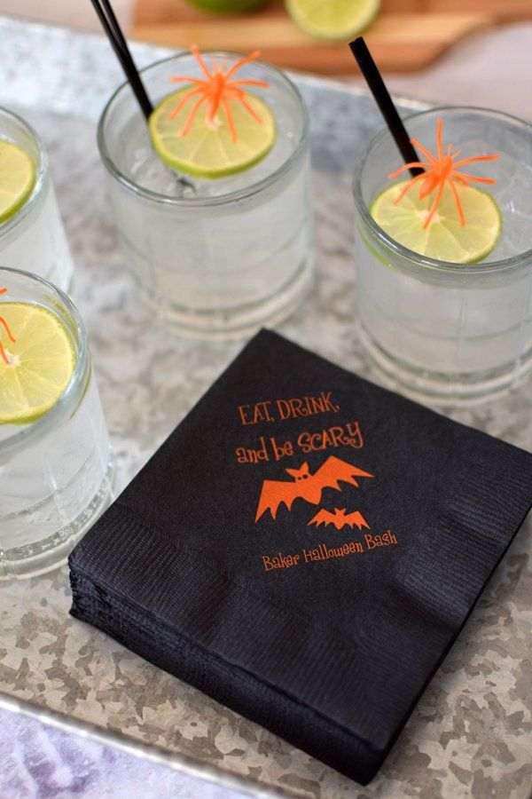 Halloween Party Custom Printed Cocktail Napkins (Set of 50) Party - halloween cocktail ideas