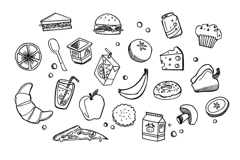 Lunch Time - Food doodles , #spon, #Features#illustration# ...
