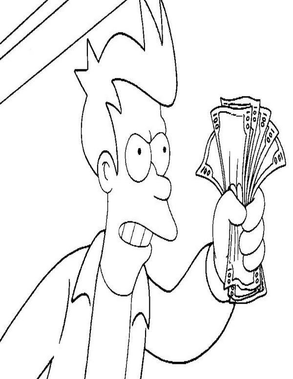 Futurama Coloring Pages 6 Cartoon Coloring Pages Coloring Pages