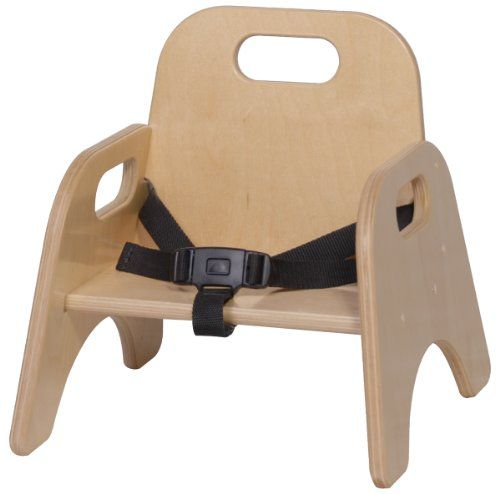 Steffy Wood Products 5 Inch Toddler Chair With Strap. Handle Cutouts For  Easy Moving