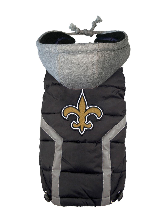 NFL Team Pet Puffer Vest Saints by Hip Doggie at Gilt