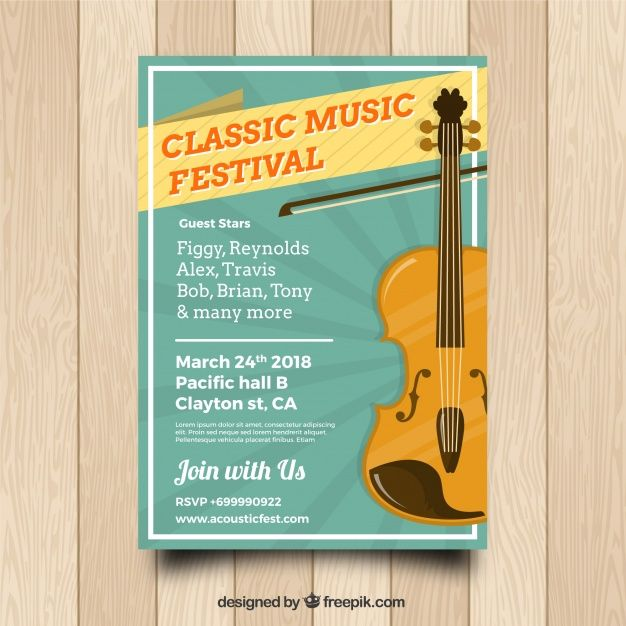 Classical Music Poster Design Free Vector