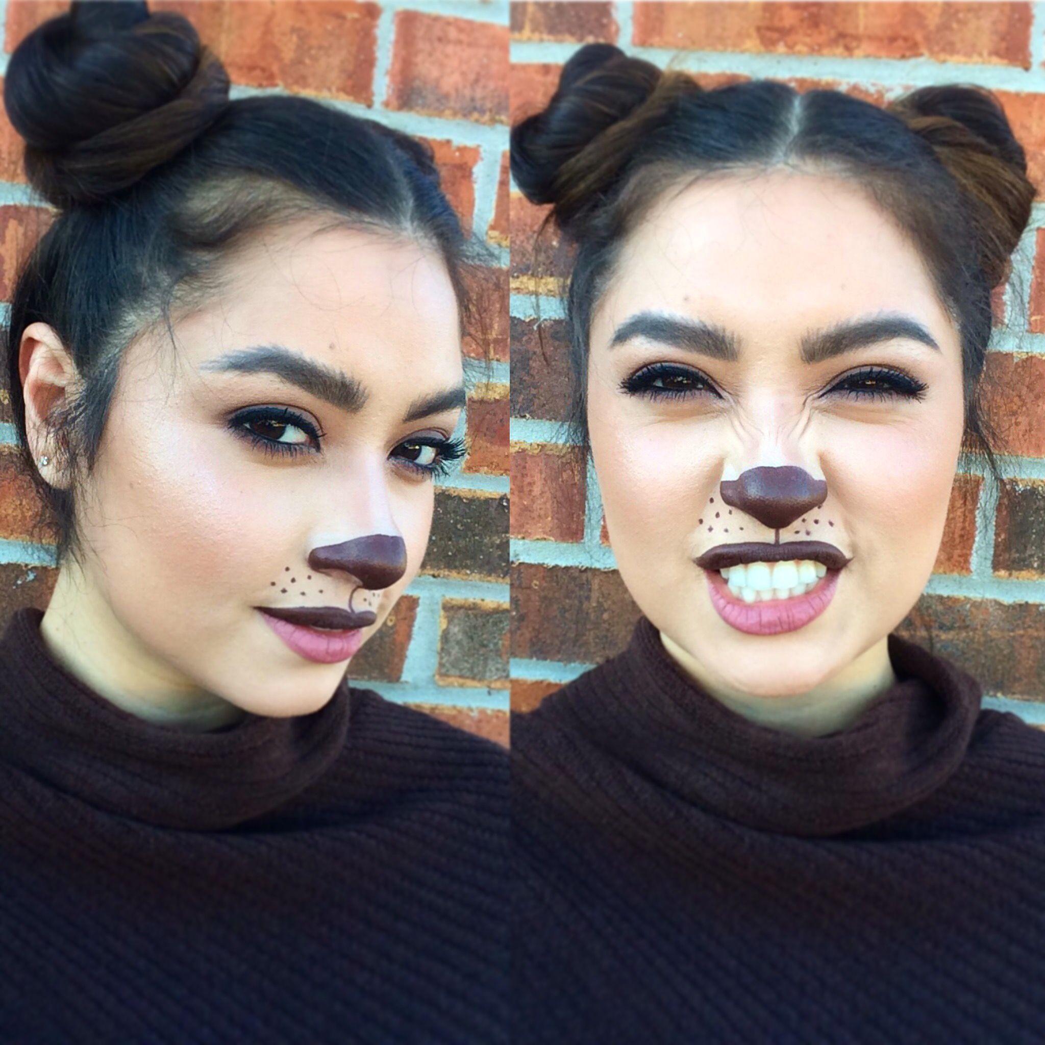 Bear Makeup Halloween Costume Idea Easy Makeup