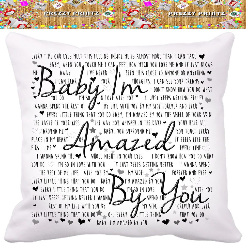 Christmas Song The Gift Lyrics: Details About LONESTAR AMAZED LYRIC SONG Cushion Wedding