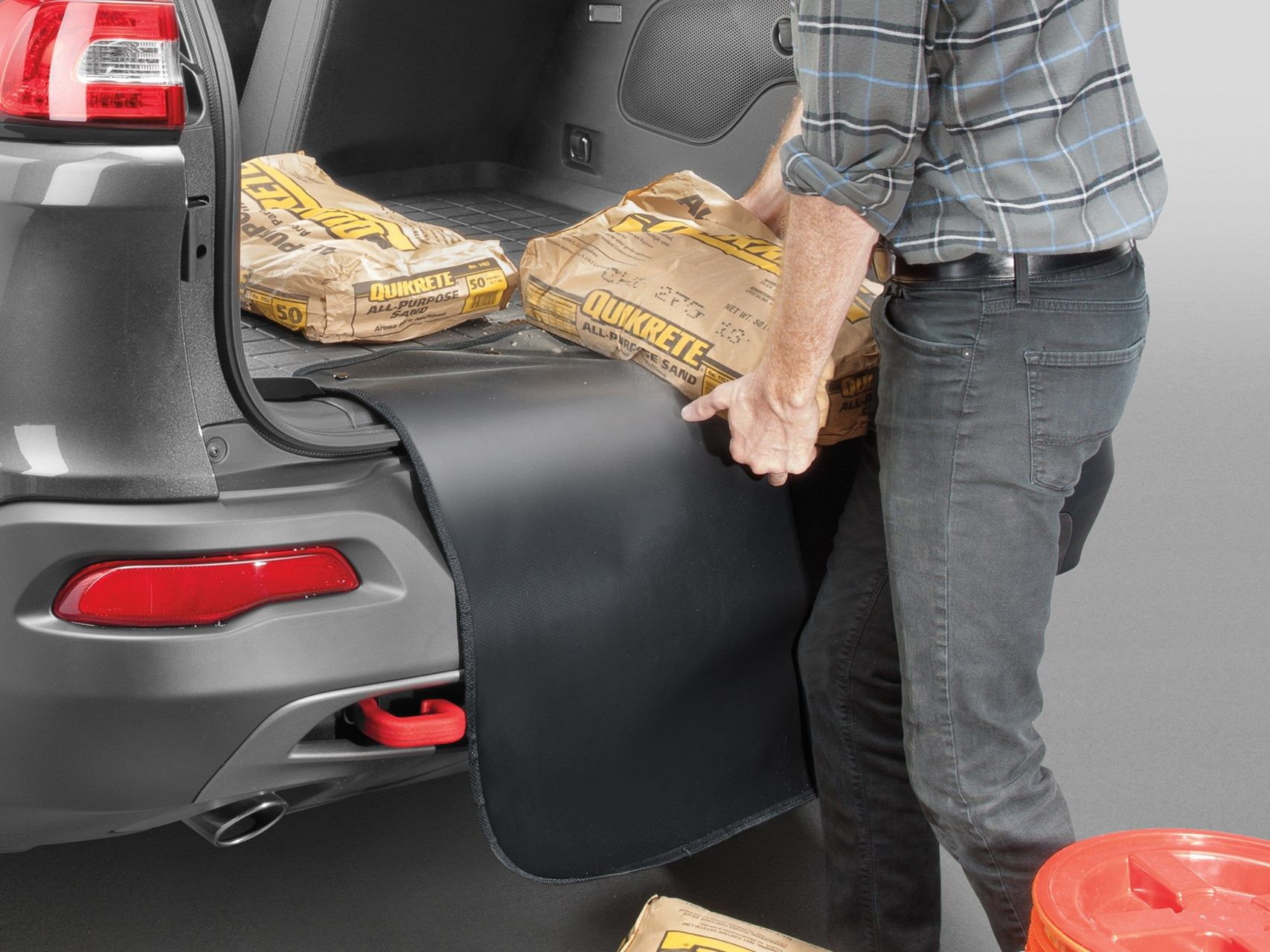 WeatherTech Custom Fit Cargo Liners for Volvo XC90 Black
