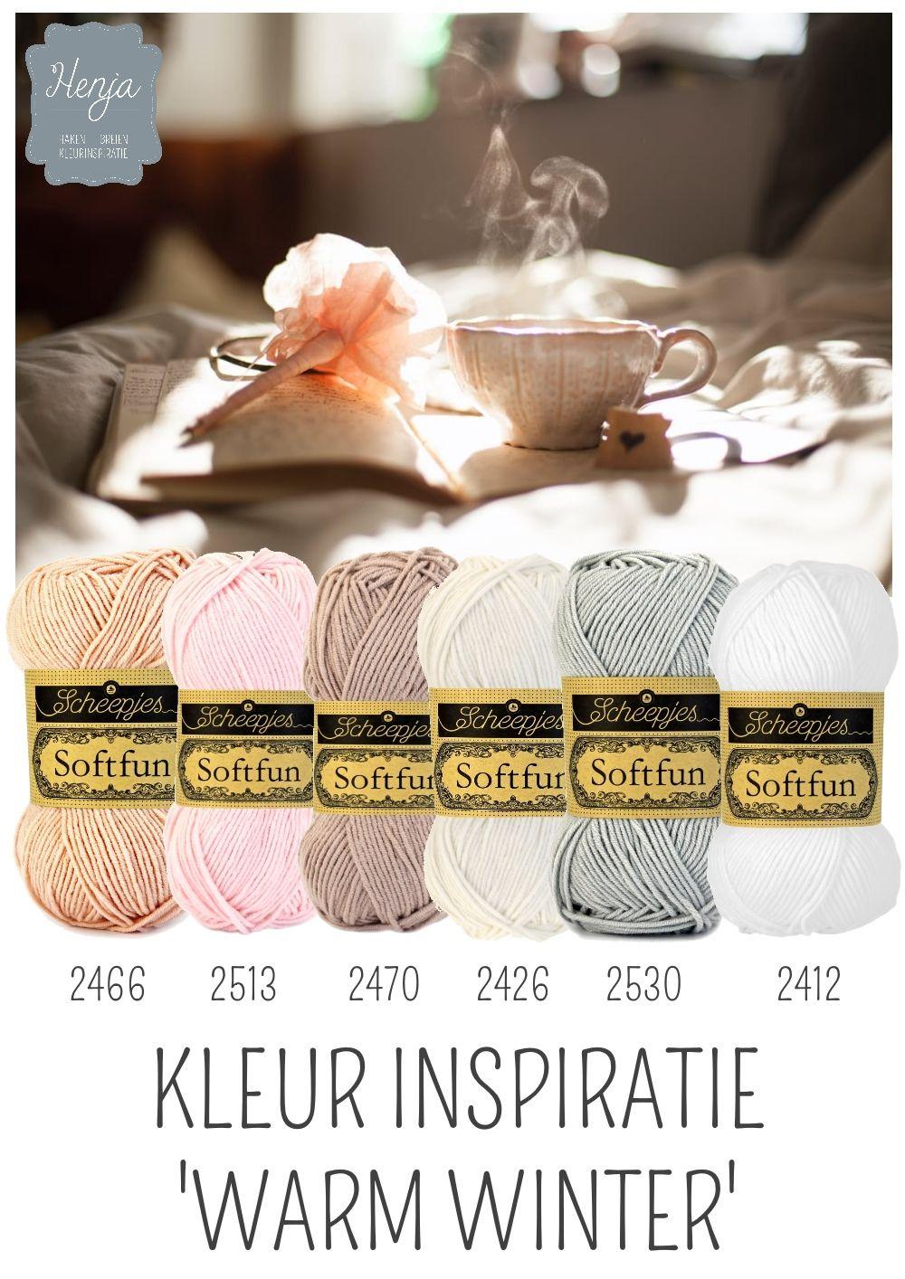 Kleurinspiratie Warm Winter / Scheepjes Softfun Yarn