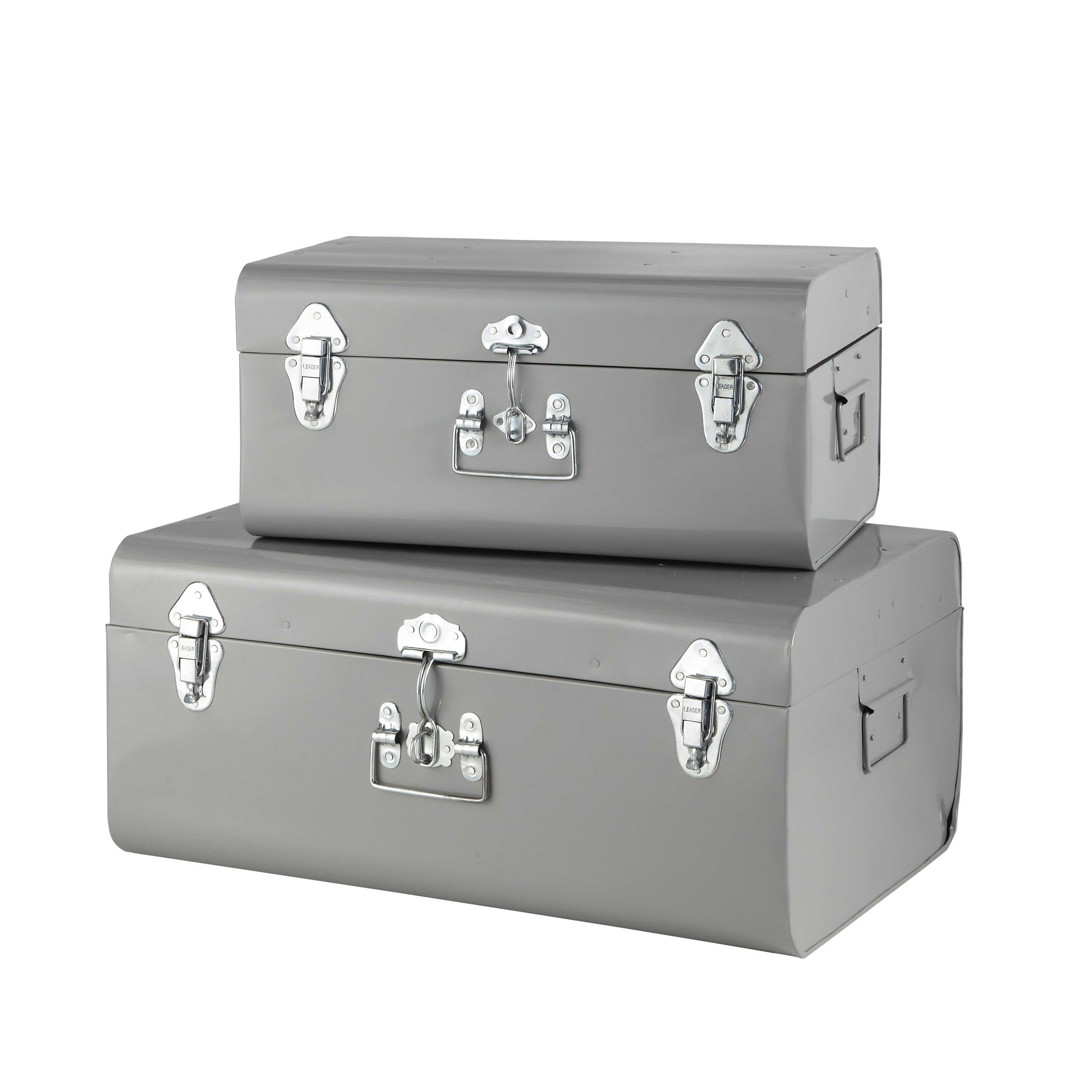 Muebles De Almacenaje Malle En Metal Malle De Rangement Et Decoration Maison Du Monde