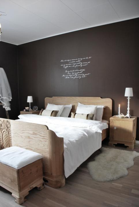Noir Blanc Bois Decor Chambre A Coucher Deco Chambre