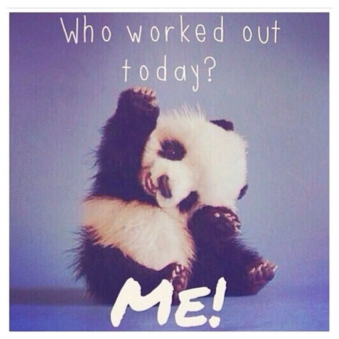 Who worked out today?