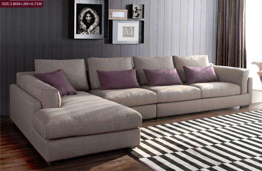 Modern Soft L Shape Italian Fabric Sofa Headrest Fashion Designs Vip Sofa Living Room Sofa Design Italian Sofa Designs Modern Sofa Living Room