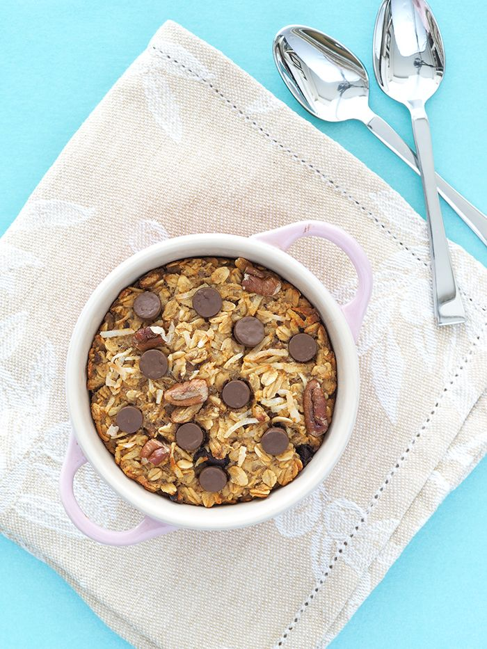 Cowboy Cookie Baked Oatmeal | The Breakfast Drama Queen