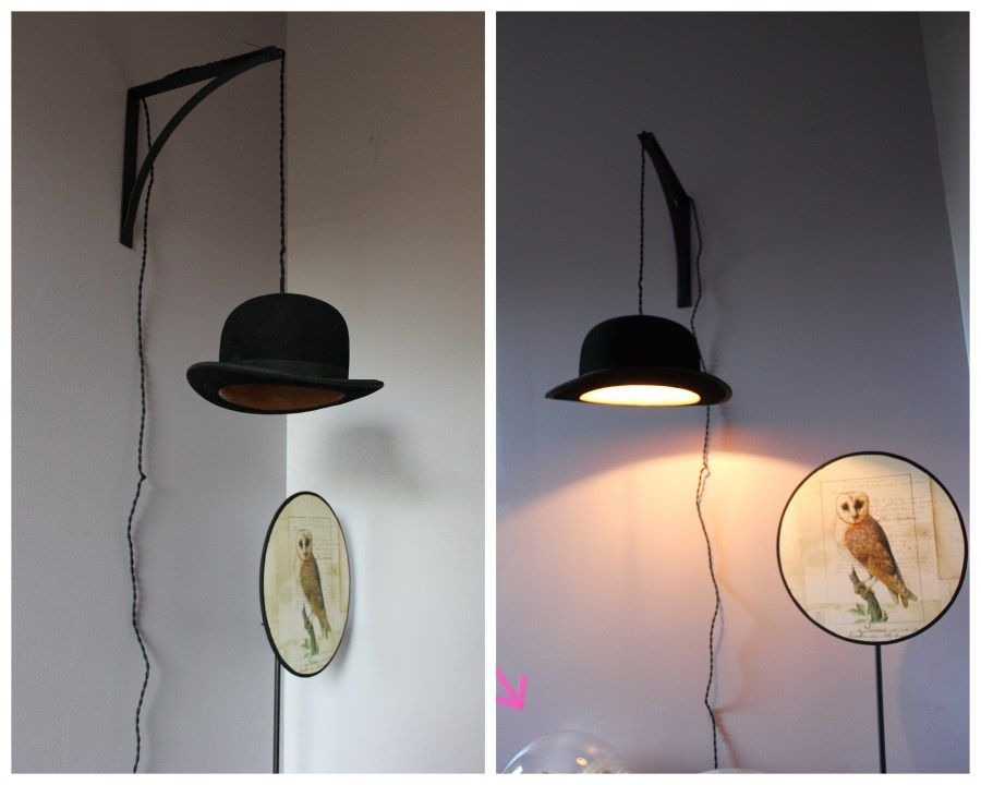 tuto diy cr er une lampe avec un chapeau lumi re pinterest lampes chapeaux et cr er. Black Bedroom Furniture Sets. Home Design Ideas