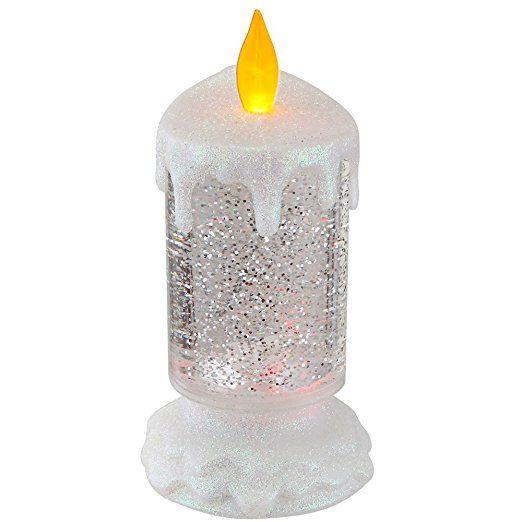 LED Tisch Lampe Glitter Kerzen Leuchte Wohn Zimmer Deko Beleuchtung ...