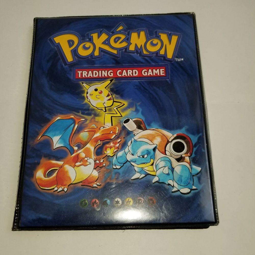 Pokemon Binder/Folder/Booklet Pikachu, Charizard, Blatoise