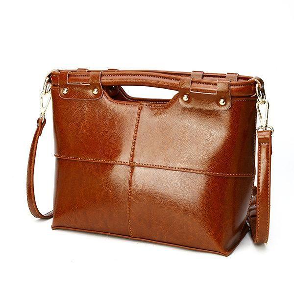 Photo of Women Vintage Genuine Leather Handbag Shoulder Bags Crossbod