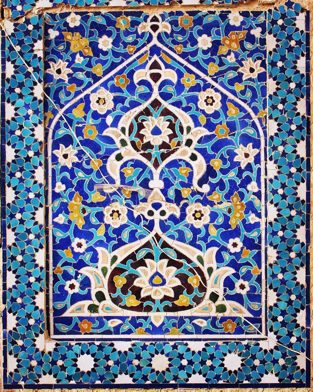 Islamic Art Gallery On Instagram Iranian Mosaic Tiles Jameh Mosque Of Varzaneh تزئینات کاشی معرق مسجد جامع ورزنه Islamicart Mosaic Tiles Islamic Art Mosaic