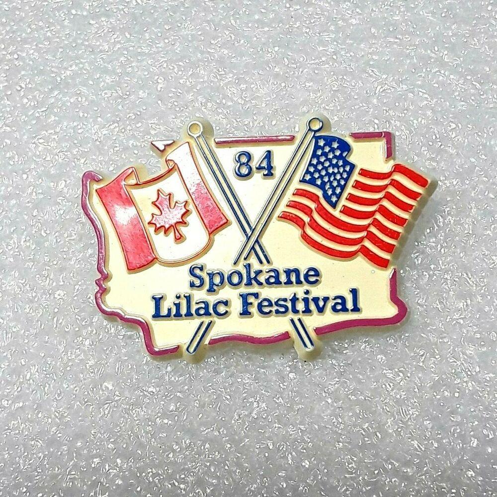 1984 Spokane Lilac Festival Lapel Hat Pin